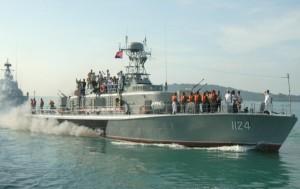 เรือลาดตระเวนที่กองทัพกัมพูชาได้รับมอบจากเวียดนาม