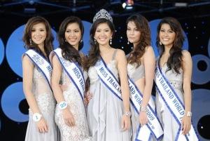 วิว พงศ์ชนก กันกลับ มิสไทยแลนด์เวิลด์ 2009 1