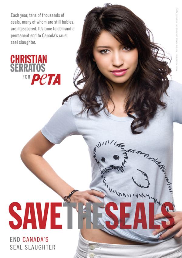 คริสเตียน เซอร์ราโตส Christian Serratos PETA